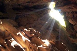 24840129 - sun beam in cave